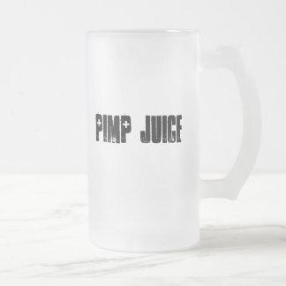 Planet X Designs Logo, PIMP JUICE 16 Oz Frosted Glass Beer Mug