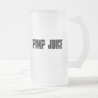 Planet X Designs Logo, PIMP JUICE Frosted Glass Beer Mug
