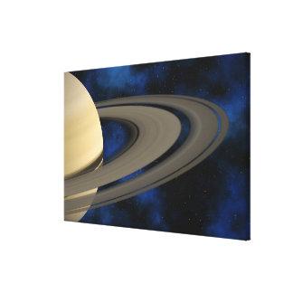 Planeta 2 de Saturn Impresión De Lienzo