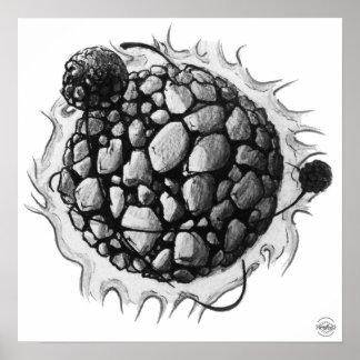 Planeta 4 y un medio poster de la impresión del