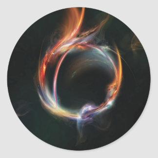 Planeta abstracto etiquetas redondas
