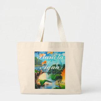 PLANETA ÁGUA  series  - by LEOMARIANO Canvas Bag