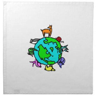 Planeta animal servilletas