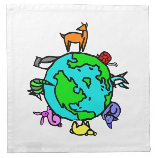 Planeta animal servilleta de papel