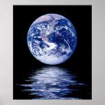 Planeta azul del agua posters