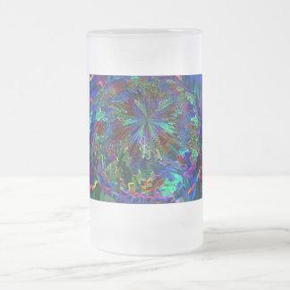 Planeta azul del extranjero de la chispa taza de cristal