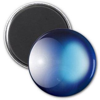 Planeta azul imán redondo 5 cm