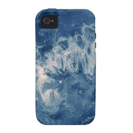 Planeta azul - luna azul iPhone 4 fundas