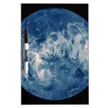 Planeta azul - luna azul pizarra blanca