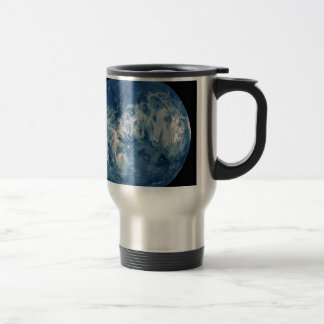 Planeta azul - luna azul taza térmica