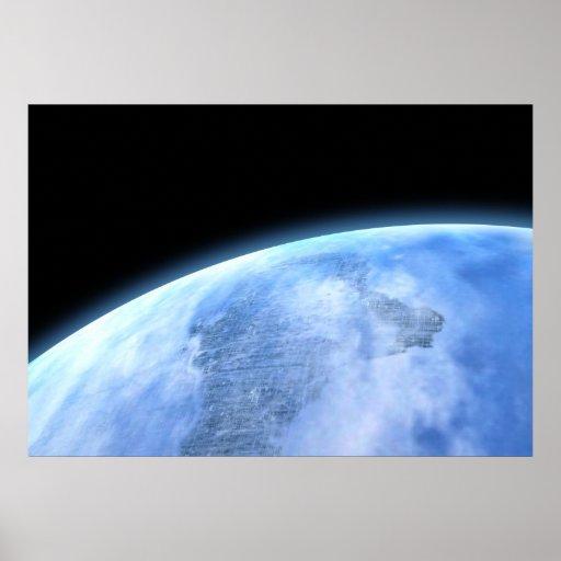 planeta azul poster