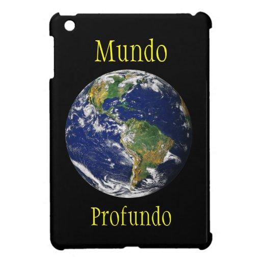 Planeta casero de mármol azul Mundo Profundo iPad Mini Protectores