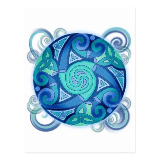 Planeta céltico tarjetas postales