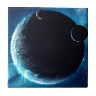 Planeta con las lunas teja  ceramica