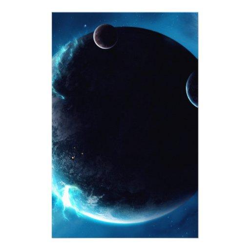 Planeta con las lunas papelería