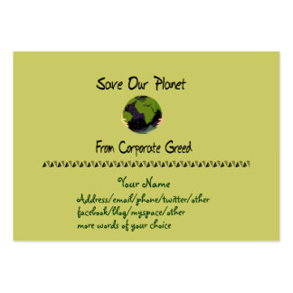 Planeta corporativo tarjetas de visita grandes