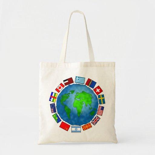 Planeta de la bandera bolsas