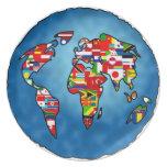 Planeta de la bandera plato