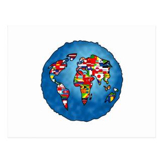 Planeta de la bandera tarjeta postal