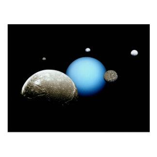 Planeta de la NASA de Urano y de las lunas Tarjetas Postales