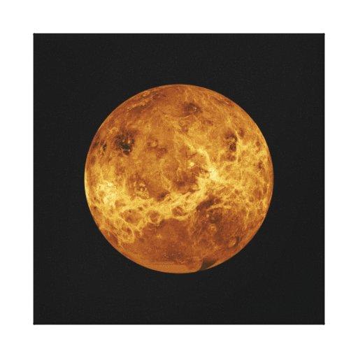 Planeta de la NASA de Venus Lona Estirada Galerias