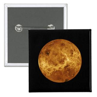 Planeta de la NASA de Venus Pin Cuadrada 5 Cm