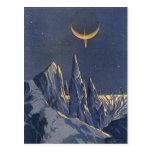 Planeta de la nieve de la ciencia ficción del tarjeta postal