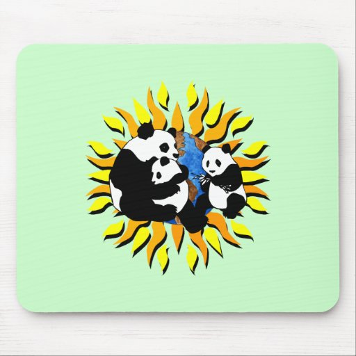 Planeta de la panda alfombrilla de raton