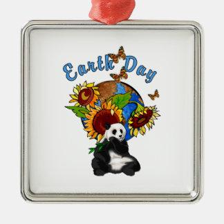 Planeta de la panda del Día de la Tierra Ornamento Para Arbol De Navidad