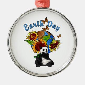 Planeta de la panda del Día de la Tierra Ornamento De Navidad