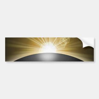 Planeta de la puesta del sol de la salida del sol pegatina para auto