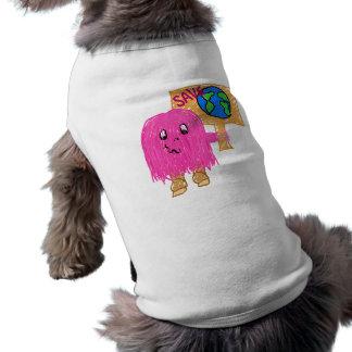 Planeta de la reserva del rosa playera sin mangas para perro