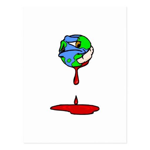 planeta de la sangría tarjetas postales