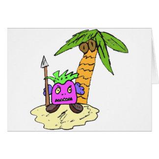 Planeta de las uvas tarjeta de felicitación