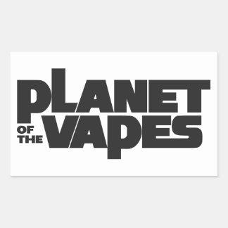 Planeta de los vapes rectangular pegatinas