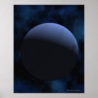 Planeta de Neptuno Poster