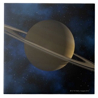 Planeta de Saturn Azulejo