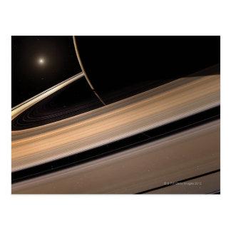 Planeta de Saturn en la Sistema Solar, primer 3 Postal