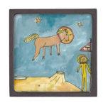 Planeta del caballo del espacio caja de joyas de calidad