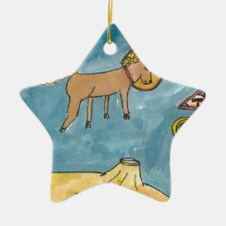 Planeta del caballo del espacio ornamento de navidad