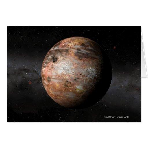 Planeta del carbono tarjeta