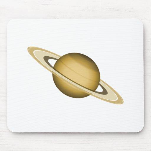 Planeta del espacio con los anillos tapetes de raton