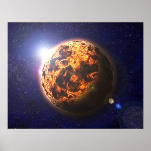 Planeta del fuego poster