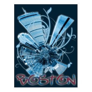 planeta del horizonte de Boston mini Postal