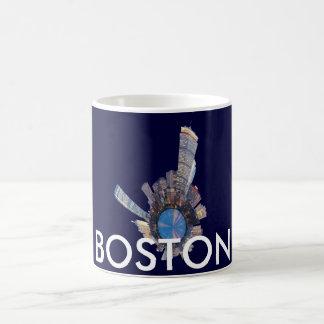 planeta del horizonte de Boston mini Taza Básica Blanca