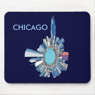 planeta del horizonte de Chicago Mousepads