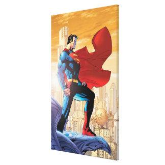 Planeta diario del superhombre lona envuelta para galerias