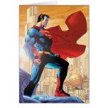 Planeta diario del superhombre tarjeta de felicitación