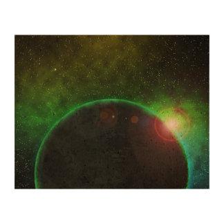 Planeta en espacio papel de corcho