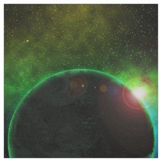 Planeta en espacio telas